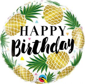 Happy Birthday Pineapple Foil Balloon