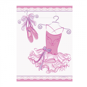 Pink Ballerina Party Bags, pk8