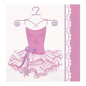 Pink Ballerina Party Napkins
