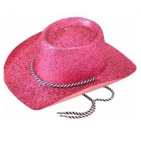 Pink Glitter Cowboy Hat