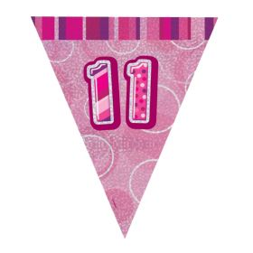 Pink 11th Birthday Party Decorations