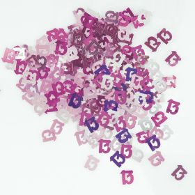 Pink Glitz Age 13 Party Confetti 14g