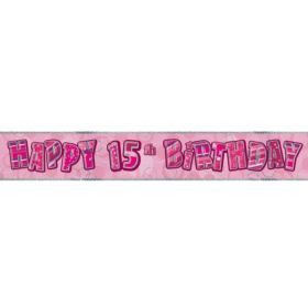 Pink Age 15 Party Banners