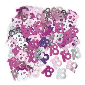Pink Age 18 Confetti