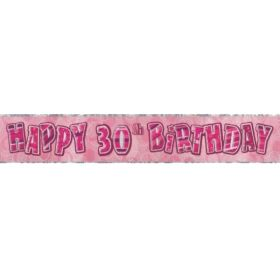 Pink Age 30 Party Banners
