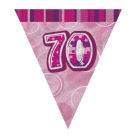 Pink 70th Birthday Party Decorations