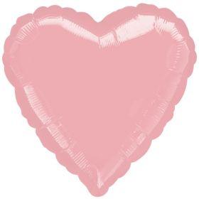 Pearl Pink Heart Foil Balloon