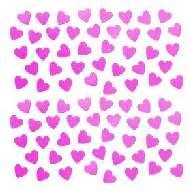 Hot Pink Heart Shape Confetti