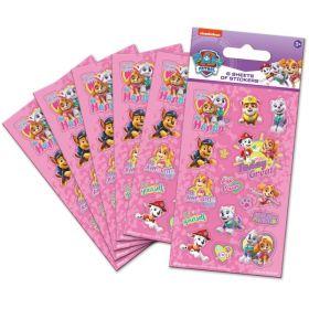 Pink Paw Patrol Party Bag Stickers, pk6