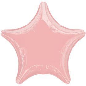 Pink Pearl Star Foil Balloon