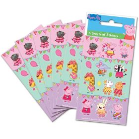 Peppa Pig Carnival Party Bag Stickers, pk6