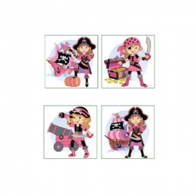 4 Pink Pirate Tattoos