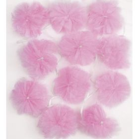Pink Tulle Pom Pom Garland 2.13m