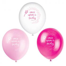 "Pink Princess & Unicorn Party Latex Balloons 12"", pk8"