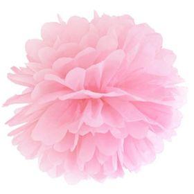 Pastel Pink Tissue Paper Pom Pom 25cm