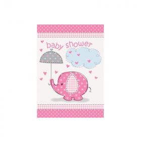 Umbrellaphants Pink Baby Shower Invitations