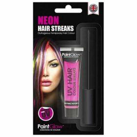 Neon Pink Hair Streaks