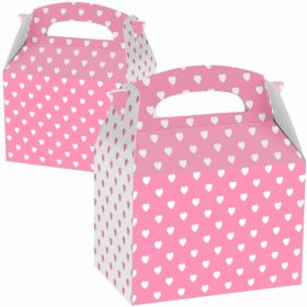 Pink and White Hearts Party Boxes