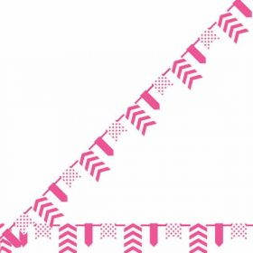 Hot Pink Dots, Stripes & Chevron Pennant Banner