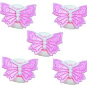 Pink Butterfly Sugar Decorations