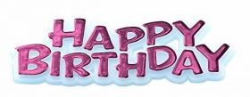 Happy Birthday Cake Topper - Pink - 7cms