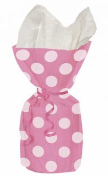 Hot Pink Polka Dot Party Cello Bags 20pk