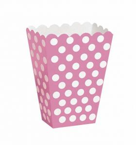 Hot Pink Polka Dot Party Treat Boxes 8pk