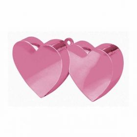 Pink Double Heart Balloon Weight