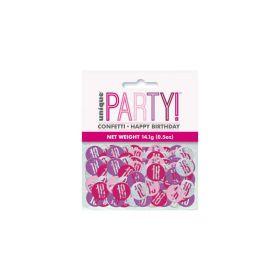Glitz Pink Age 18 Confetti 14g