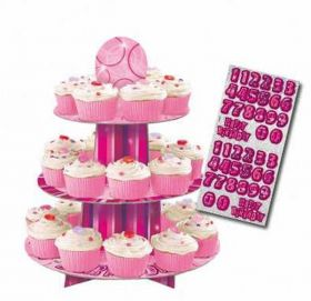 Pink Glitz Party Cupcake Stand