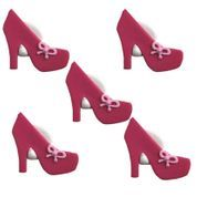 Pink High Heel Sugar Decorations