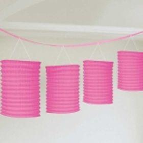 Pink Lantern Garland, 12ft
