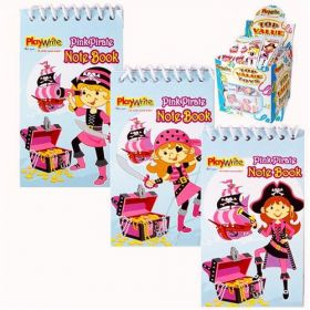 Pink Pirate Notepad (One supplied)