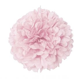 Lovely Pink Paper Puff Ball Hanging Party Decoration