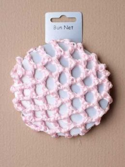 Pink Shiny Ribbon Bun Net