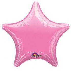 Metallic Pink Pearl Star Foil Balloon