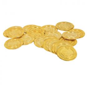 144 Pirate Treasure Plastic Coins