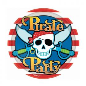 Pirate Party Plates 18cm, pk8