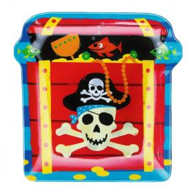 Pirate Treasure Plastic Snack Plate