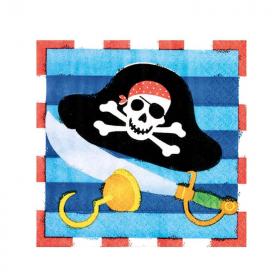 Pirate Treasure Beverage Napkins 25cm x 25cm, pk16