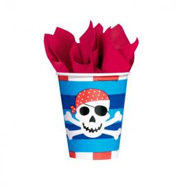 Pirate Treasure Cups 266ml, pk8