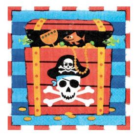 Pirate Treasure Napkins 33cm x 33cm, pk16