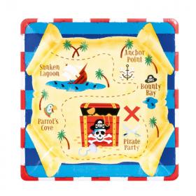 Pirate Treasure Plates 18cm, pk8