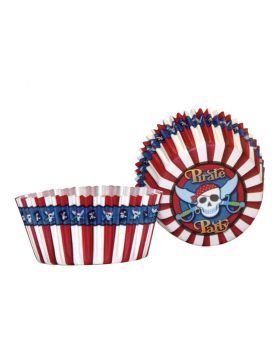 Party Pirate Cake Cases, pk50