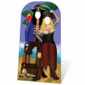Pirate Couple Stand In Cardboard Cutout