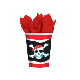Pirate Party Paper Cups 266ml, pk8