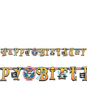 Pirate Party Happy Birthday Banner 2.1m x 17.7cm