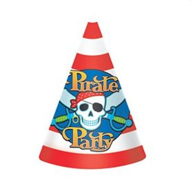 Pirate Party Hats, pk8