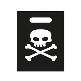 Pirate Skull and Crossbones Party Bags, pk8