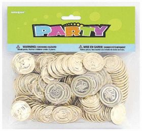 Pirate Treasure Plastic Coins Pack of 144